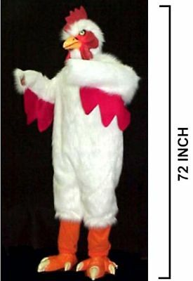 PROFESSIONAL  WHITE ADULT CHICKEN COSTUME SUIT halloween mascot  dressup NEW
