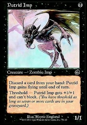 2x Demonietto Putrido - Putrid Imp MTG MAGIC TOR Torment Ita/Eng
