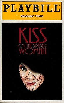 Kiss Of The Spiderwoman Broadway Playbill Signed By Chita Rivera