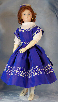 "Pattikins Juliette's Silk Gown KIT  for  12"" French Fashion Dolls KIT"