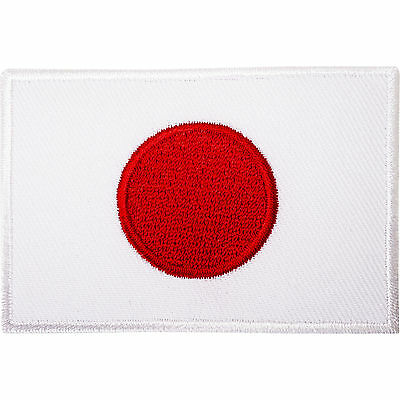 Japan Flag Embroidered Iron / Sew On Patch Japanese Karate GI Suit T Shirt Badge
