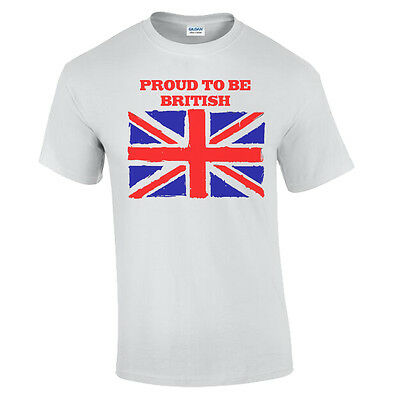 Brexit T-Shirt Mens Proud To Be British Leave The EU Thatcher Churchill Freedom