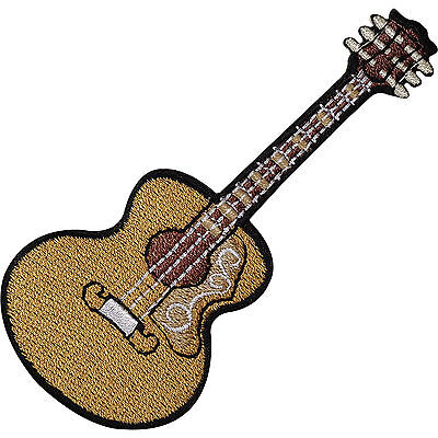 Classical Spanish Acoustic Guitar Embroidered Iron Sew On Patch Shirt Bag Badge