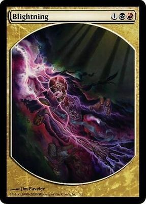 PROMO FULL ART TEXTLESS Folgore Devastante - Blightning MTG MAGIC Eng/Ita