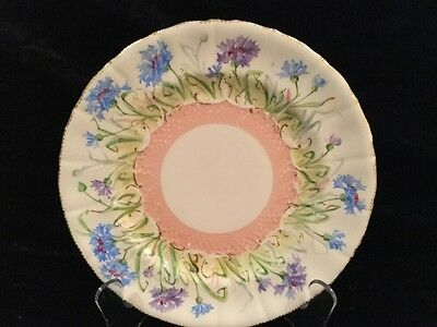 C1900 Pretty Antique Mintons Plate With Floral Decorations  22.5 Cm