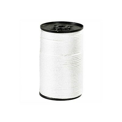 """""""Solid Braided Nylon Rope, 1/4"""""""", 1,150 lb, White, 500'/Case"""""""