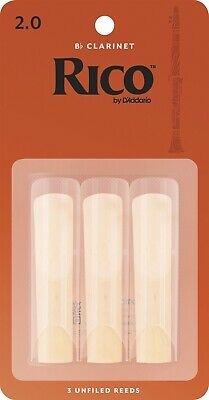 Rico Bb #2 Clarinet Reeds - 3 Pack (Strength 2) RCA0320