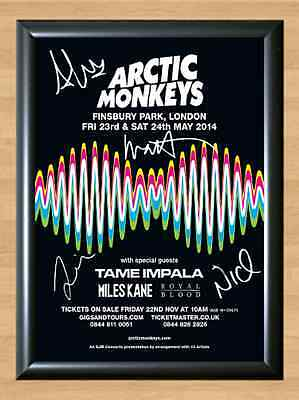 ARCTIC MONKEYS London Finsbury Signed Autographed A4 Print Poster Photo Ticket