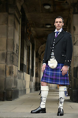 Gents 8 Yard Casual Scottish Kilt, Heritage Of Scotland Tartan