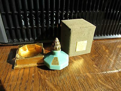 "RARE  ""Le Debut "" Vert  Richard Hudnut Perfume Mini bottle Adventure  Fragrance"