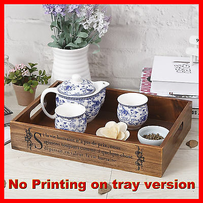 Timber Wooden Breakfast Tea Soft Drink Tray Display Crate Spice Rack A4-1