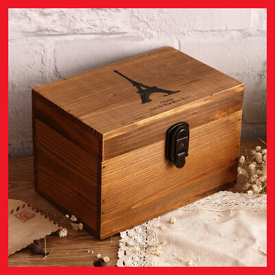 French Provincial Vintage Storage Jewellery Timber Wooden Decorative Box A60