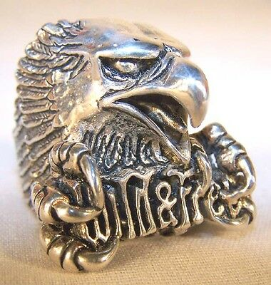 WILD AND FREE EAGLE BIKER RING BR147 HEAVY silver new unisex eagles men ladies