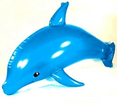 NEW DOLPHIN INFLATABLE 40 IN blowup toy fish novelty inflate blow up dolphins