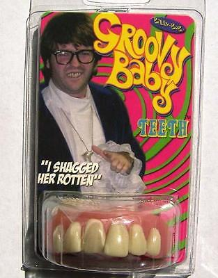 PROFESSIONAL FAKE GROOVY BABY TEETH #952 prop play funny bucked teeth new gag