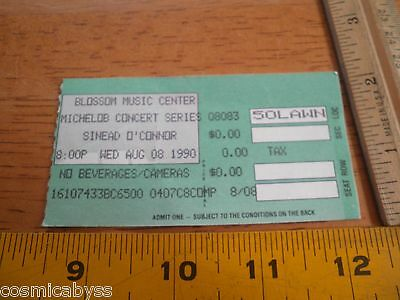 Sinead O'Connor 1990 concert ticket stub