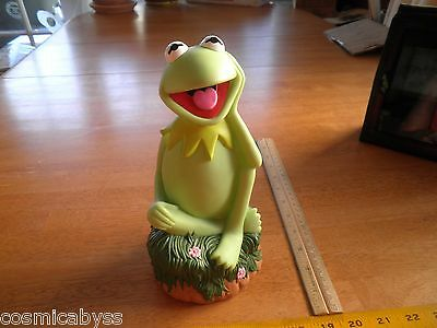 """The Muppets Applause Kermit the frog 9"""" vinyl coin bank"""