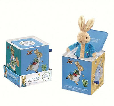 NEW The World Of Beatrix Potter 'Peter Rabbit' Musical Tin Jack in The Box