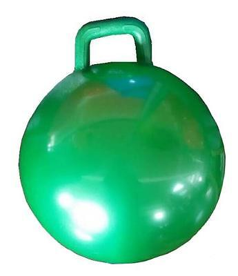 1 GREEN RIDE ON BOUNCING HOP BALL WITH HANDLE jump toy fun bounce kids children