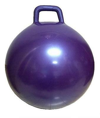 1 PURPLE RIDE ON BOUNCING HOP BALL WITH HANDLE jump toy fun bounce kids children