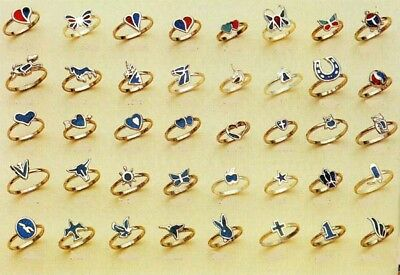 12 TURQUOISE PINKY RING womens novelty jewelry NEW bulk lot novelty rings