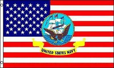 AMERICAN NAVY USA  3X5 FLAG FL547 boat military marines america usa war navy