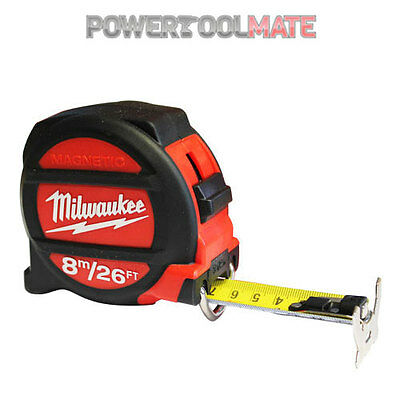 Milwaukee 48225225 Metric & Imperial 8m 26ft Double Sided Magnetic Tape Measure