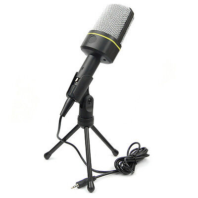 3.5mm USB Condenser Microphone Mic with Tripod For Computer Skype MSN Karaoke