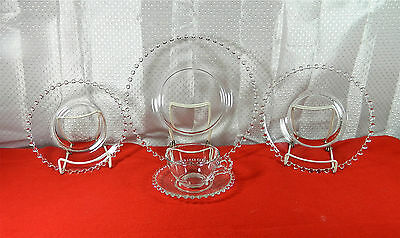 """64-Pcs (Or Less) Of Imperial Glass Co's """"candlewick-Clear"""" 3400 Pat Glassware"""