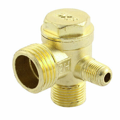 3-way Air Compressor Replacement Parts Male Threaded Check Valve