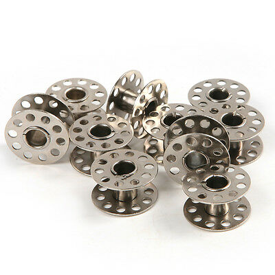 10pcs Stainless Steel Metal Sewing Machine Bobbins Brother Singer 21*10mm