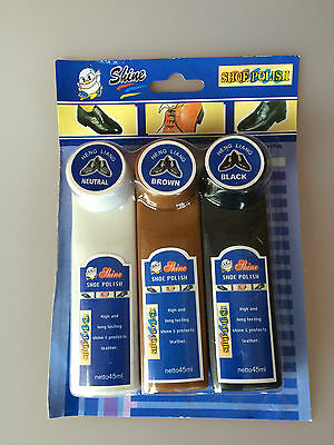 Black, Brown, Neutral Color Shine Shoe Polish Protect  Leather Care