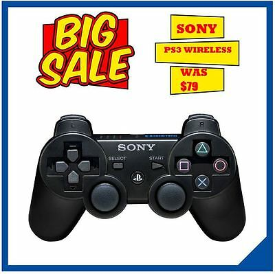 PS3 Sony Playstation 3 DualShock 3 WIRELESS CONTROLLER BLACK