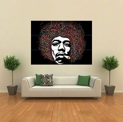 JIMI HENDRIX VECTOR Giant Wall Art Print Picture Poster - £19.97 ...
