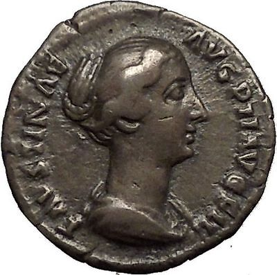 Faustina II Marcus Aurelius wife Silver Ancient Roman Coin Sexual virtue i52133