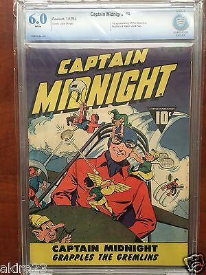 Captain Midnight #4  CBCS  6.0  FN  Fawcett 1943