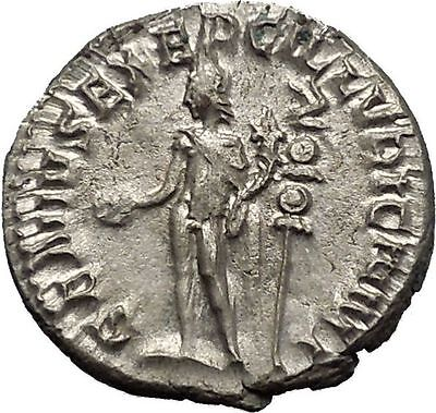 TRAJAN DECIUS 250AD Silver Authentic Ancient Roman Coin Genius  Cult  i52135