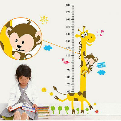 Giraffe Kids Nursery 1.80 metre Height Chart Kids Baby Nursery UK Wall Sticker