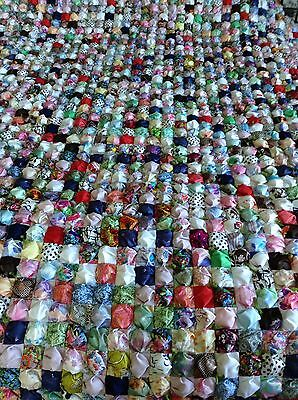 Hand Sewn Bubble/Biscuit Quilt - New