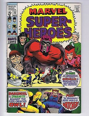 Marvel Super-Heroes 23 (Nice/Sharp!) Reprint 1st Quicksilver & ScarW (id# 14871)