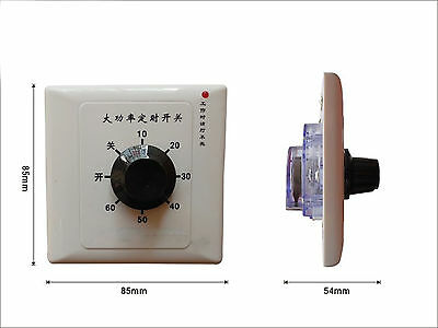 220V 15A 60 Minutes Timer Countdown Time Switch Control