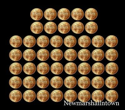 1970 - 1989 P+D+S Lincoln Mint Set Roll of 50 Coins Includes 1982 Variety of 7
