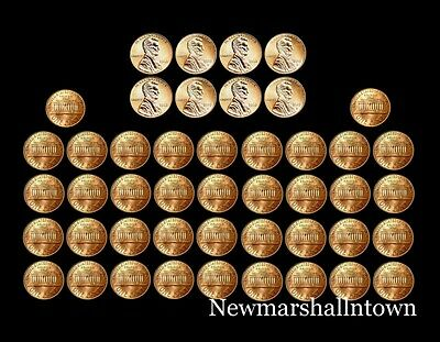 1990 - 2009 P+D Lincoln Mint Set Roll of 46 Coins Includes 2009 PD Bicentennials