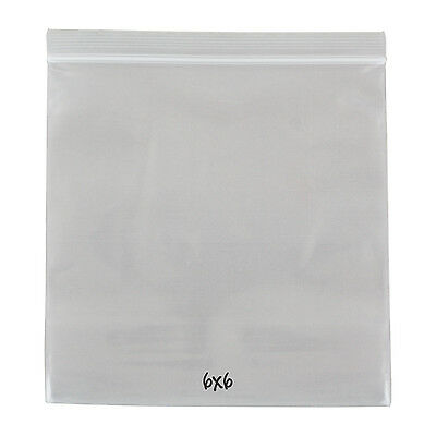 Reclosable Reusable Ziplock Poly Bag, Clear, 4 Mil, 6 x 6, 500 Bags
