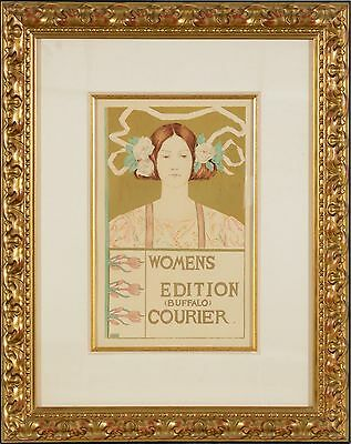 "Alice B.Glenny-""Women's Edition Courier"", (Plate 60) lithograph, Framed"