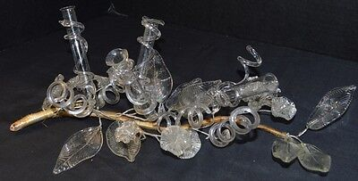 Mid Century Pressed Glass Floral Centerpiece