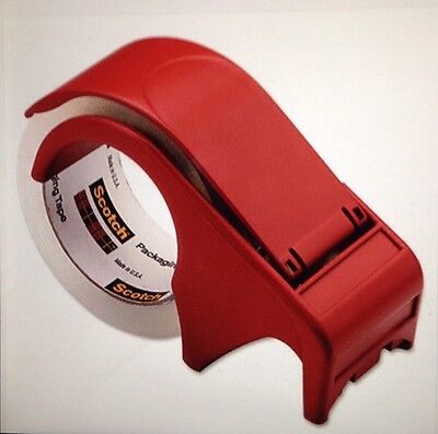3M Scotch Packaging Tape Hand Dispenser ☆ Includes Roll HEAVY DUTY SHIPPING TAPE