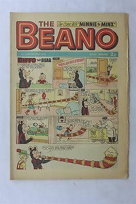 The Beano 1578 October 14th 1972 Vintage Comic Dennis The Menace Biffo The Bear