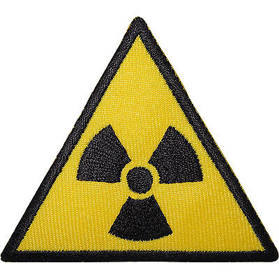 Embroidered Radioactive Radiation Hazard Symbol Sew or Iron on Patch Biker Patch