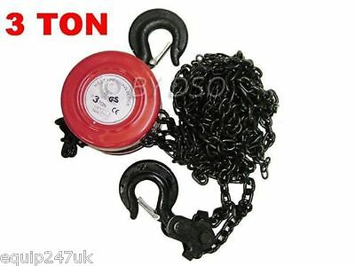 CHAIN BLOCK AND TACKLE 3 TON hoist lifting lift pull pulling farm chains blocks
